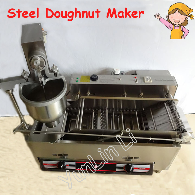 Commercial Doughnut Maker Automatic Donut Machine Fryer Maker Stainless Steel Gas and Electric Donut Making Machine T-100A fast food leisure fast food equipment stainless steel gas fryer 3l spanish churro maker machine