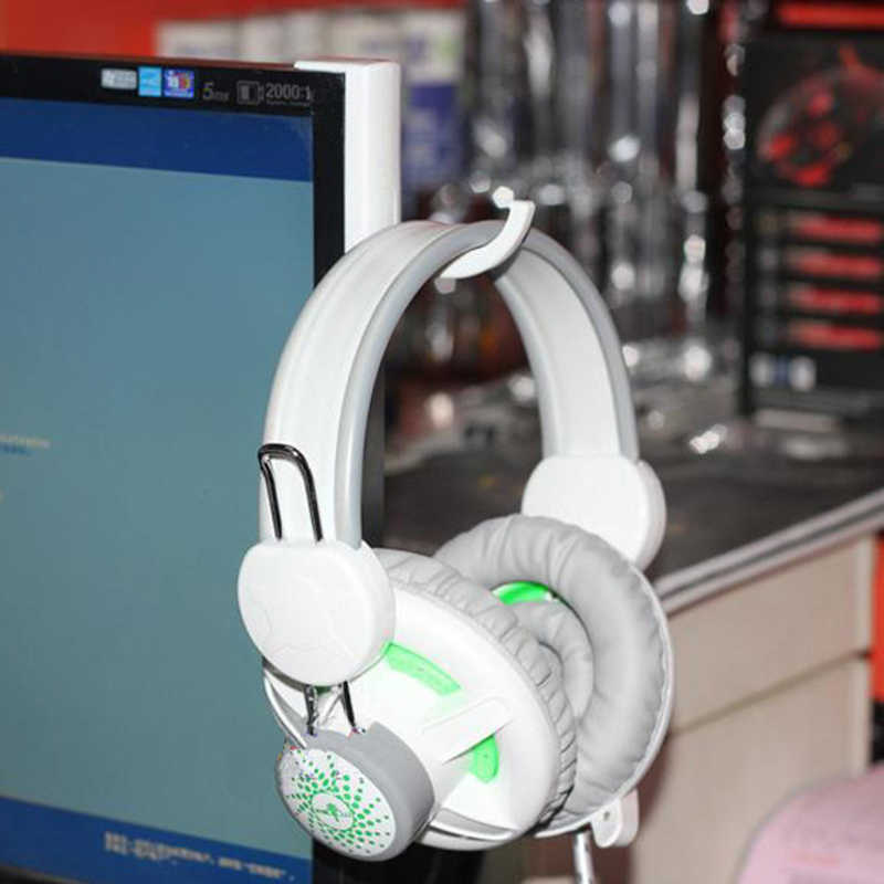 2 Warna Headphone Stand Universal Headphone Headset Gantungan Kait Dinding PC Monitor Earphone Dudukan Rak Rak