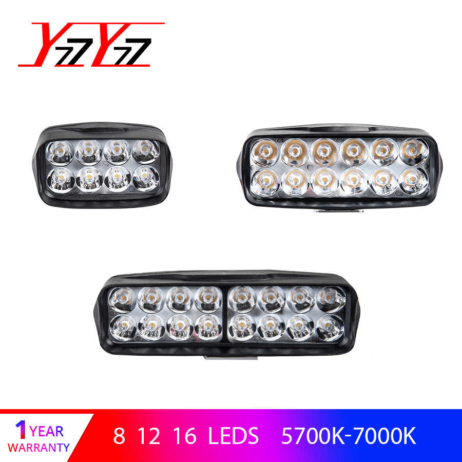 YzzYzz Car Headlights Led Bar Work Light Bulbs 12V 24V 6500K White Led light Bar Lamps for Car Motor Off Road Tractor Boat SUV