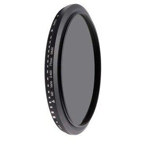Image 1 - מצלמה מסנן אופטי זכוכית ND2 400 צפיפות ניטרלי מדעך משתנה ND מסנני מתכוונן 30mm 37mm 40.5mm 43mm 49mm אוניברסלי ND