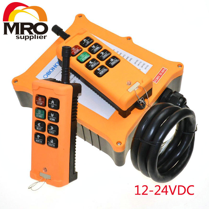OBOHOS 2 Speed 2 Transmitters 8 Channels Truck Hoist Crane Winch Radio Remote Control System Controller XH00037 2 speed 2 transmitters 10 channels hoist crane industrial truck radio remote control push button switch system controller