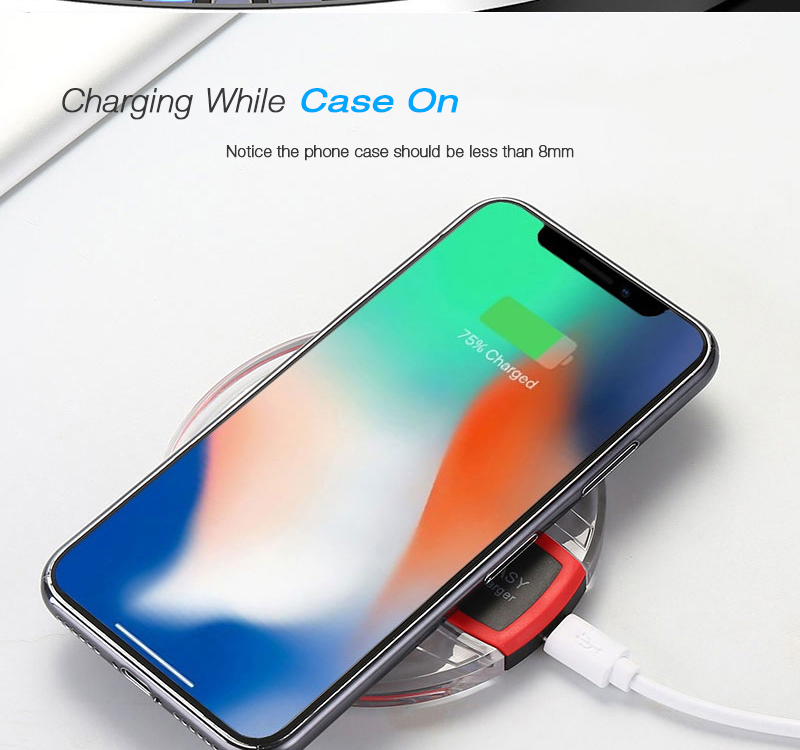 Qi Wireless Charger for Samsung Galaxy S9 S8 Plus Suntaiho Fashion Charging Dock Cradle Charger for iphone XS MAX XR 8Plus phone 14