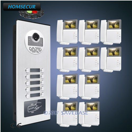 HOMSECUR 4.3 LCD Video Doorbell Security Intercom with IR Camera for 10 FamiliesHOMSECUR 4.3 LCD Video Doorbell Security Intercom with IR Camera for 10 Families