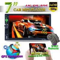 7 дюймовый Bluetooth Автомобильный навигатор MP5 стерео аудио плеер gps навигации автомобиля видео USB для автомобиля мультимедийный DVD плеер Систем