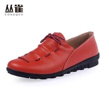 2017 Printemps Femmes Chaussures En Cuir Véritable Mocassins Casual Appartements Feme Mode Doux Sandales Peu Profonde Romestyle Chaussure Zapatos mujer