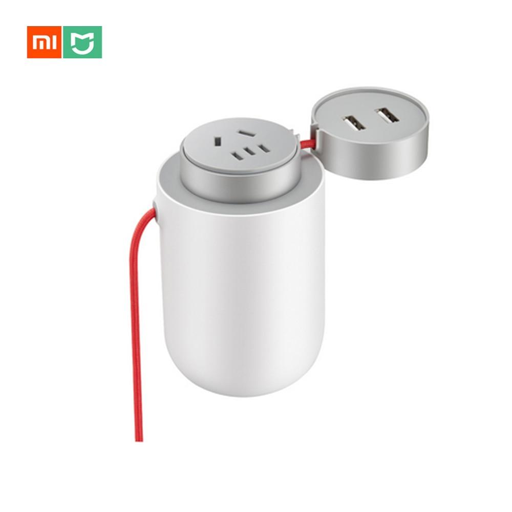 Оригинальный Xiaomi Mijia 100 Вт Портативный автомобиля Мощность преобразователь DC 12 В к AC 220 В с 5 В/2.4A двойной Порты usb автомобиля Зарядное устройс...