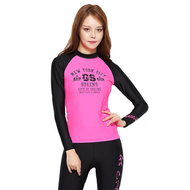 New Tight Quick Dry Long Sleeve Outdoor Sport Surf Swimming T Shirt Women  Sun Protection Anti-uv Running Camping Hiking T-shirt aa05207ee