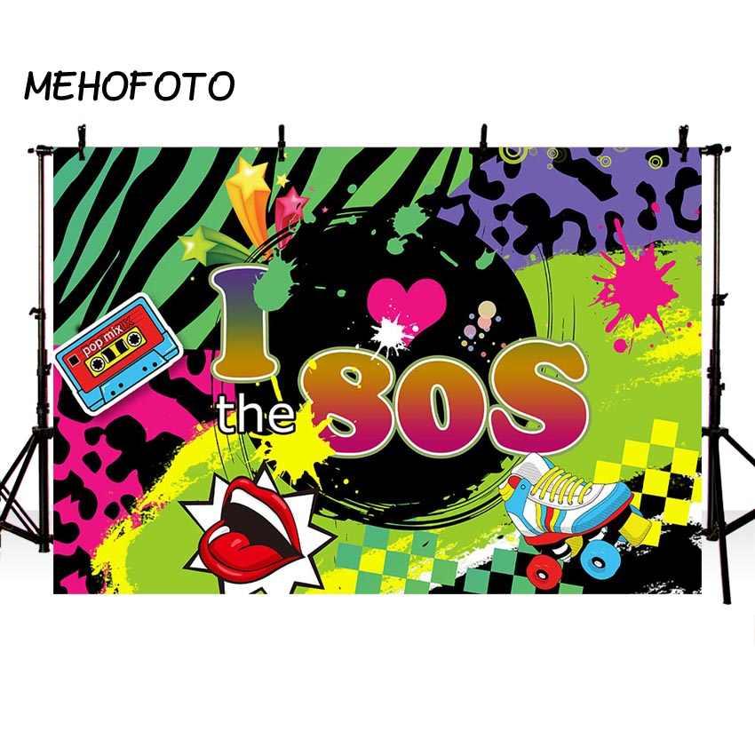 I Love 80s Telón De Fondo A Los Años 80 Hip Pop Fotografía
