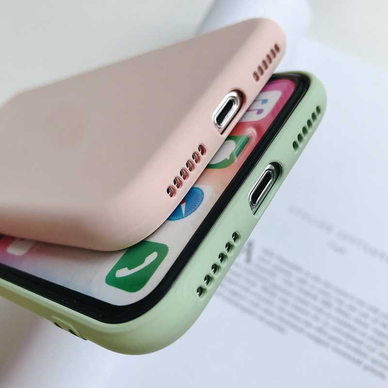 Case for Huawei Y9 Y5 Y6 2019 Original Liquid Silicone Case Plain Color Bumper Cover on Huawei P Smart Plus 2019 2018 Coque Capa