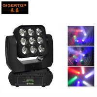 Gigertop CREE Led Moving Head Matrix Light Beam Led Disco Light Led DMX 512 9x10W Beam Light AV110V 240V CE ROHS certification