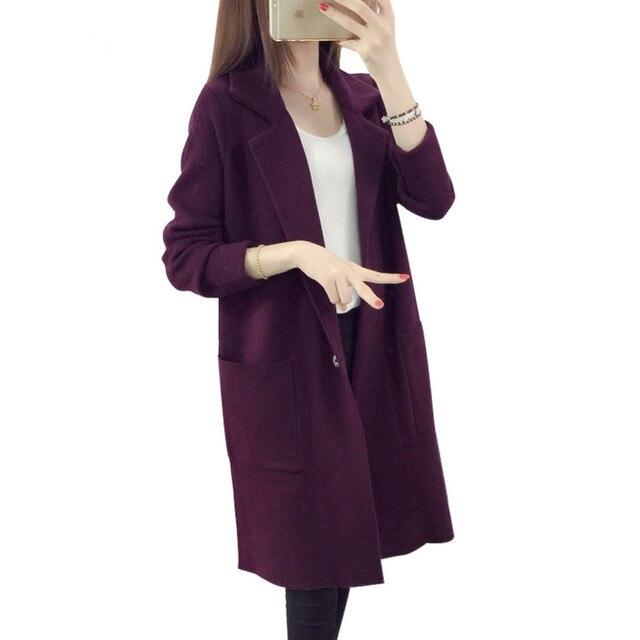 Aliexpress.com : Buy 2018 Winter Long Sweater Coat for Women Turn ...