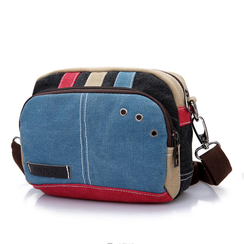 Multifunctional Portable Women Crossbody Bag 2016 Women Lovely Canvas Shoulder Messenger Bags Zipper Casual Handbag Sac Femme aosbos fashion portable insulated canvas lunch bag thermal food picnic lunch bags for women kids men cooler lunch box bag tote