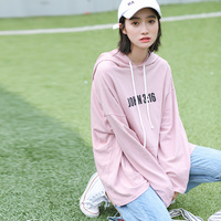 2017 New Autumn Long Sleeve T Shirt Women Large Size Loose Casual Pocket Hooded Tees Tops