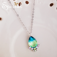 Special Fashion Enamel Flower Maxi Necklace Gold Necklaces & Pendants Vintage Rhinestones Jewelry Gifts for Women S1874N