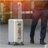 2026inch 100% Aluminum shell Luggage,Nniversal wheel Suitcase,High quality vintage Carry Ons,Metal Carrier,Trolley Travel case