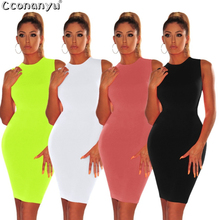 Womens Dresses New Arrival 2019 O-Neck Slim Sexy Bodycon Summer Clothes for Woman Dress Elegant Evening White