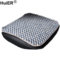 HuiER Car Seat Cushion Cover High Pure Natural Wood Beads Massage Breathable Car Seat Covers Seat Mat Car Styling Free Shipping