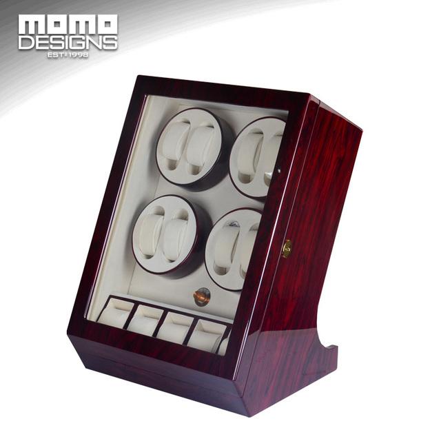 Caixa de relógio enrolador 8 automático watch winder exibir caso jacarandá Carretel enrolador 8 + 5 caixa de Cadeia enrolador de Alta qualidade caixa