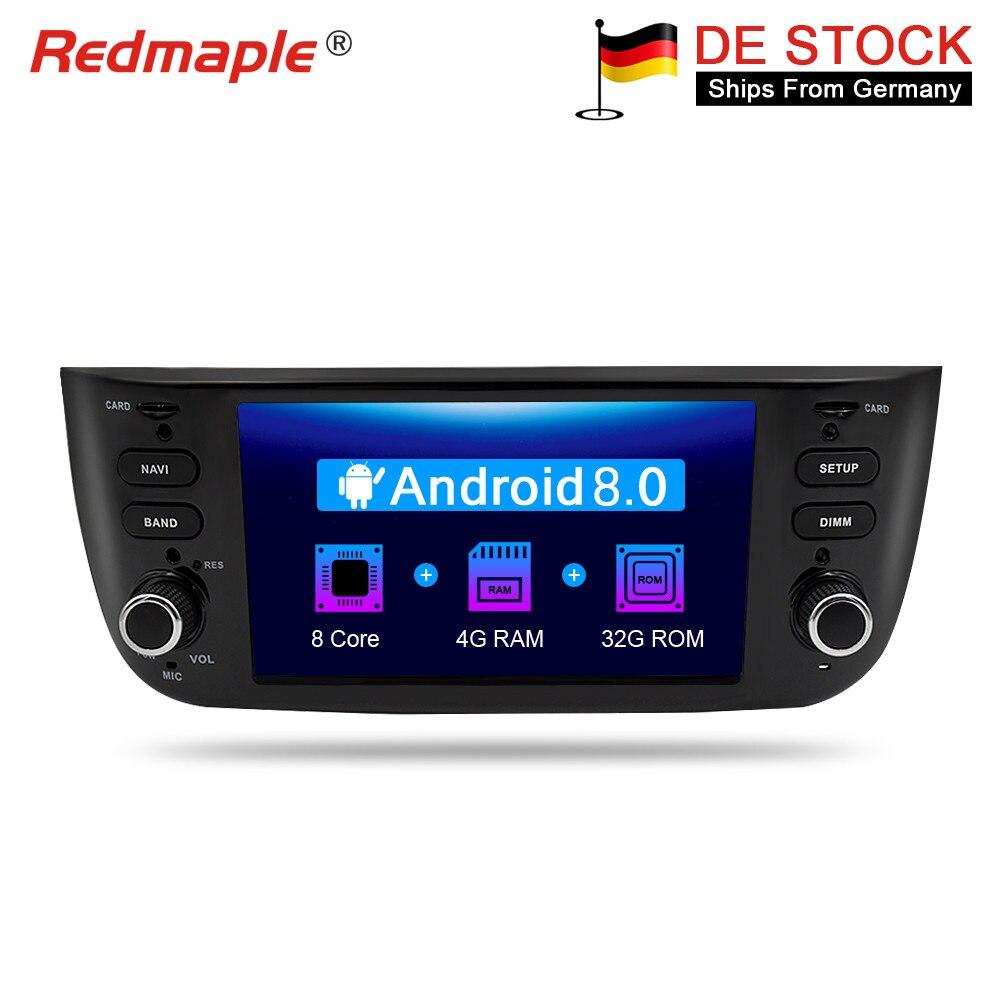 Android 8.0 Autoradio GPS Navigation Multimédia Stéréo Pour Fiat Grande Punto Linea 2012-2017 Auto RDS Audio Headunit