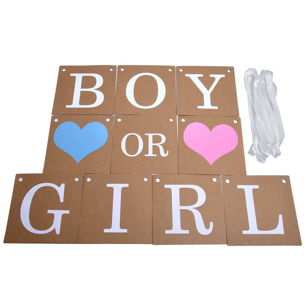 Zljq 2 4m Baby Shower Decorations Gender Reveal Party Favors Boy Or