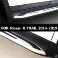 2 шт./компл. для автомобиля алюминиевый сплав и АБС Беговая доска боковая Шаговая Nerf Bar Guard для Nissan X-TRAIL 2014 2015 2016 2017 2018 2019