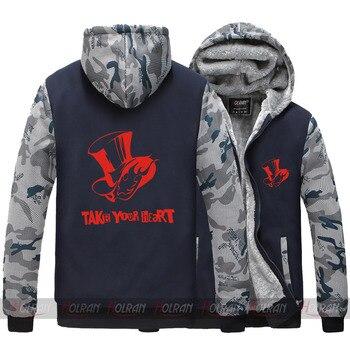 Persona 5 Take your heart New Anime Anne Takamaki cosplay costume thick winter hat fleece  jacket coat hoodie