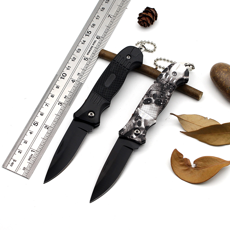 Black Stainless Steel Pocket Hunting Knife Folding Blade Edc Field Camping Survival Tactic Militar Tactical Knives Self-defense