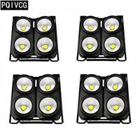 4pcs/4x100w led cob lights dmx512 led par lights White/warm white