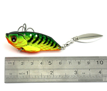 New Arrival 4pcs VIB Spinner Bait 6cm 20g Metal Fishing Lure Vibration Spinner Lure Sea Bass Fishing Bait