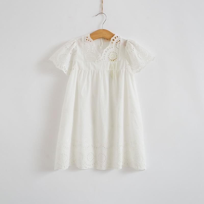 Kokvilnas mežģīnes meitenes kleita bērniem 2017 vasaras jaunas - Bērnu apģērbi - Foto 4
