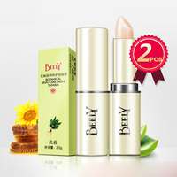 Aloe Essence Moisturizing Hydrating Restoring Lipstick 2 Pieces Colorless Waterproof Lip Balm For Both Men And