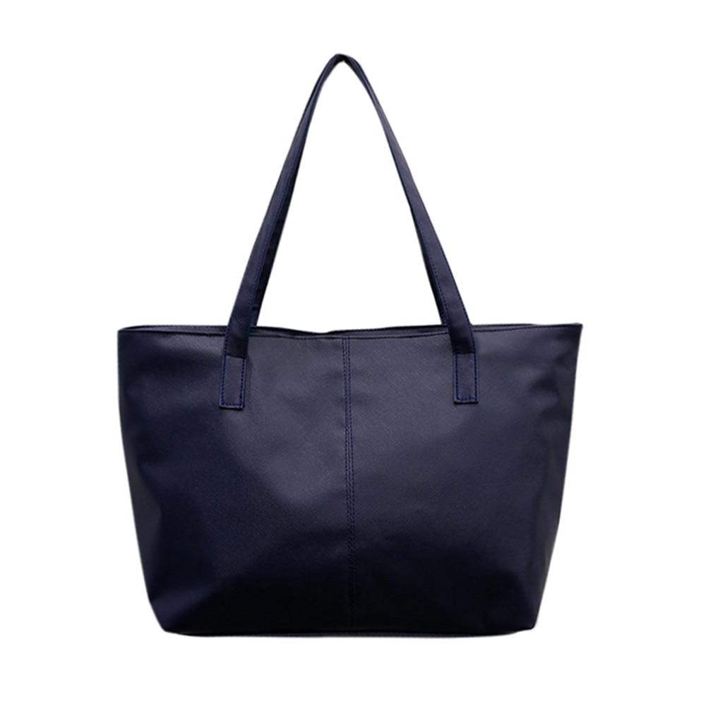 Женская кожаная сумка, роскошная Брендовая женская черная сумка, мягкая большая сумка-мессенджер на плечо, простая сумка для покупок, женская сумка#5 - Цвет: Тёмно-синий
