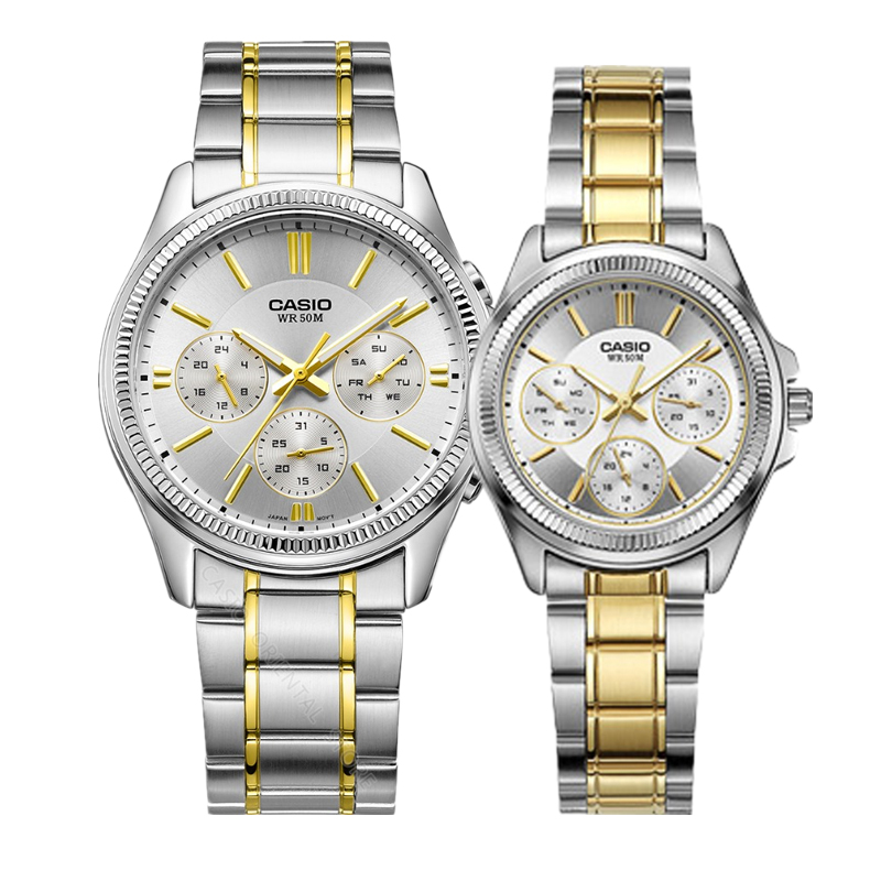 Casio Couple Watch Quartz Watch Men's and Women's Casual Fashion Watch Hot sale Luxury Brand Gifts LTP-2088SG-7A/MTP-1375SG-9A casio watch fashion simple quartz watch mtp 1375l 1a mtp 1375l 7a mtp 1375d 7a mtp 1375d 7a2 mtp 1375l 9a mtp 1375sg 1a