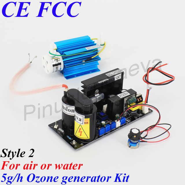 Pinuslongaeva 5G/H 5grams adjustable Quartz tube type ozone generator Kit cold corona discharge ozone generator air purifier