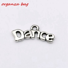 Hot Sale !  30pcs Antique silver Zinc Alloy Dance Charms pendants DIY Jewelry 20x9mm (za284)