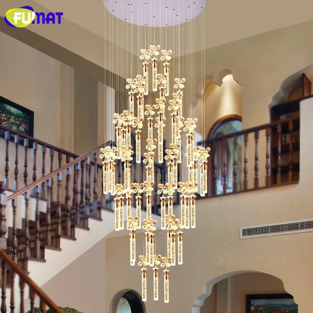 FUMAT LED CrystalBubble Chandelier Creative Large K9 Crystal Light For Living  Room Hotel Villa Custom