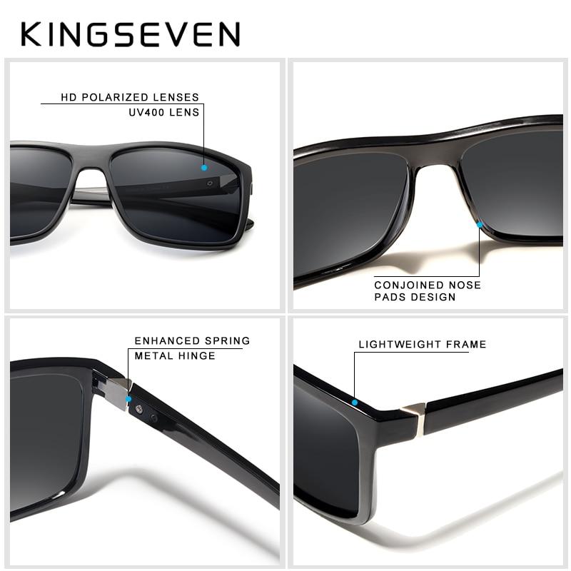 KINGSEVEN Marca Gafas de Sol de Estilo Vintage Hombres UV400 Clásico - Accesorios para la ropa - foto 3