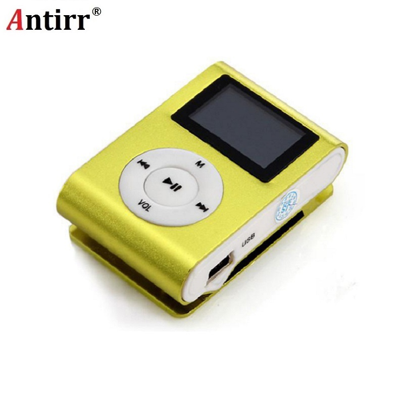 Mp3 Player Mini USB Metal Clip Portable Audio mp3 LCD Screen Support Micro SD TF Card Lettore With Earphone D30 Jan8 freeing