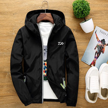 Daiwa Outdoor S-6XL Big Size Men and Women Jacket Couple Windbreaker Reflective Fishing Clothes Hiking Camping Clothing(China)