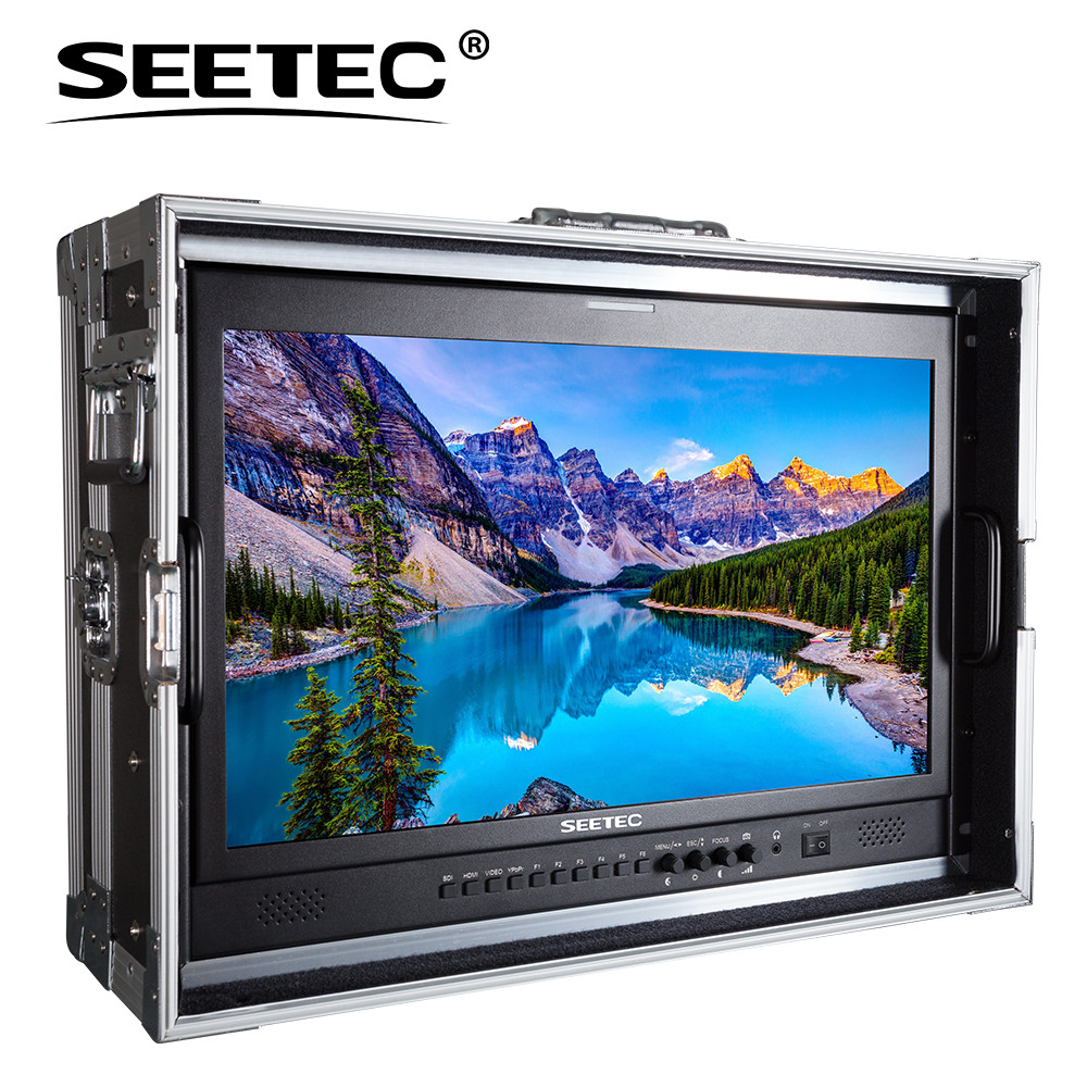 Seetec P215-9HSD-CO 21.5 IPS Full HD 1920 x 1080 Carry-on Broadcast Monitor with 3G-SDI HDMI AV YPbPr Director Monitor Suitcase new aputure vs 5 7 inch 1920 1200 hd sdi hdmi pro camera field monitor with rgb waveform vectorscope histogram zebra false color