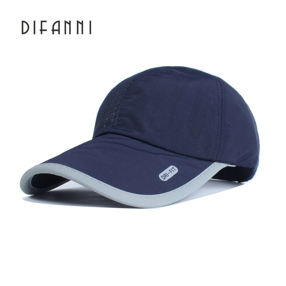 Difanni Summer Baseball Cap Men Breathable Quick-Drying Mesh Hat Women Visor Unisex outdoor Sports cap StrapBack Adjustable hot sale adjustable men women peaked hat hiphop adjustable strapback baseball cap black white pink one size 3 colors dm 6