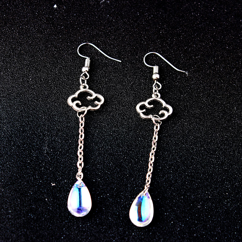 925 Sterling Silver Earrings for Women Acrylic Red Natural Stone Drop Earrings for Girls