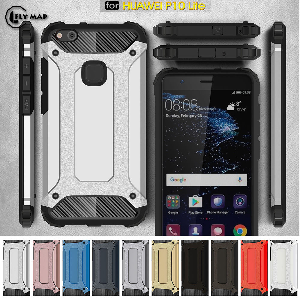 PC Armor TPU Case for Huawei P10 Lite WAS-LX1 Silicon Anti-Shock Hard Protection phone Cover for Huawei P 10 Lite WAS LX1 Case