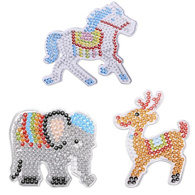 3pcs/set 5mm Hama Beads Template Unicorn Animal Plastic Stencil - unicorn template