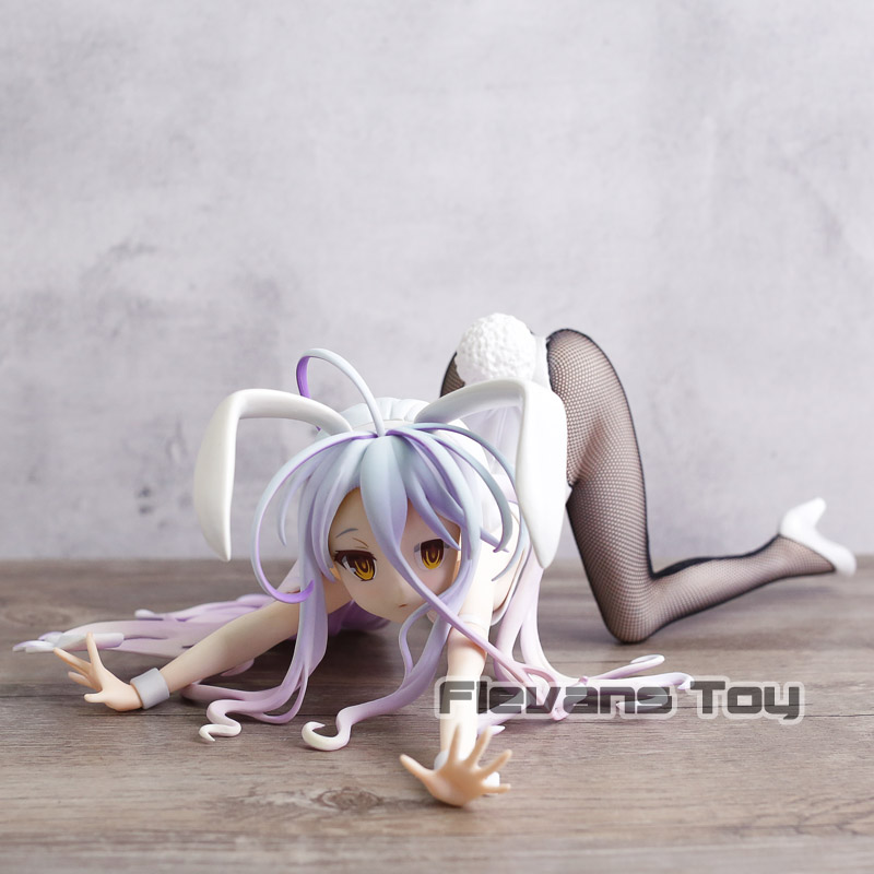 Bunny Girls Shiro NO GAME NO LIFE GAME LIFE White 3 Generation Poker Action Toy Figures Japanese Anime Collectible Figurines цена