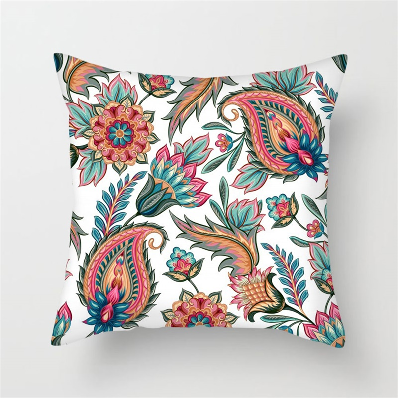 Fuwatacchi Nordic Style Floral Printed Pillow Cover  Geometric Flower Cushion Sofa Covers Decorative Pillowcase