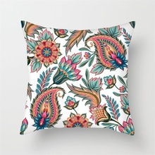 Fuwatacchi Nordic Style Floral Printed Pillow Cover  Geometric Flower Cushion Cover Sofa Pillow Covers Decorative Pillowcase fuwatacchi geometric printed cushion cover dot heart snow star pillow cover decorative sofa home throw pillowcase pillow covers