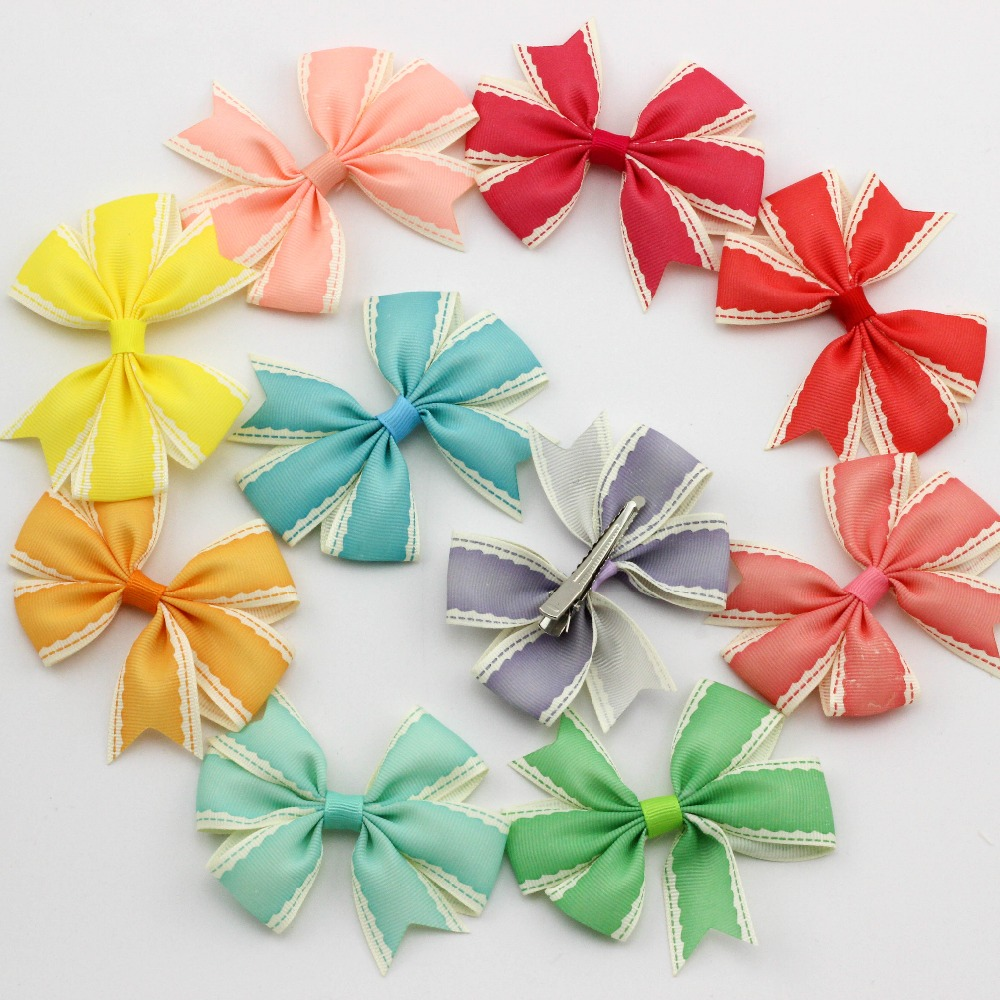 6pcs lace Grosgrain Ribbon bows Hair clips girl baby toddler infant boutique Bow for hair Headwear Hair Accessories for children halloween party zombie skull skeleton hand bone claw hairpin punk hair clip for women girl hair accessories headwear 1 pcs