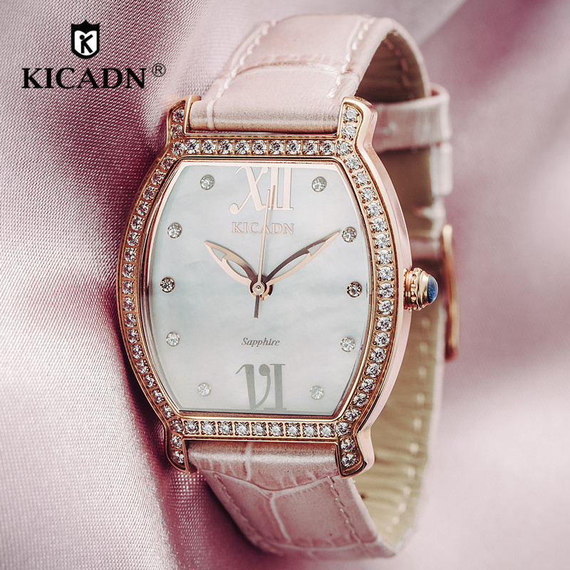 Ladies Fashion Leather Strap Watch Women Luxury Quartz Analog Dress Watches KICADN Top Clock Casual Wristwatches zegarek damski fashion watch women watches stainless steel unique simple watches casual quartz wristwatches clock hot sale zegarek damski 4fn