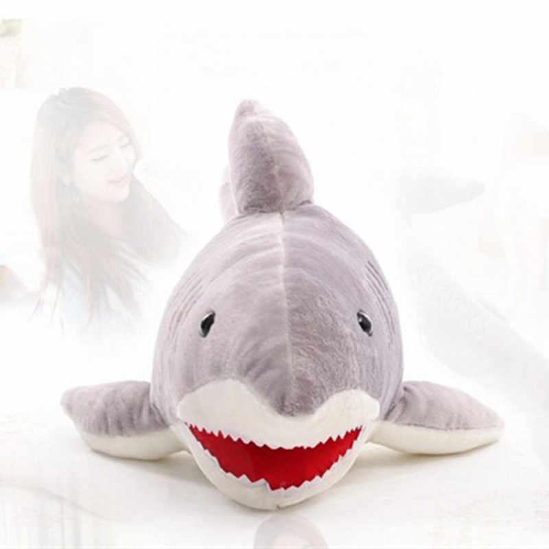 Sıcak 1 adet 40 cm Sevimli Köpekbalığı peluş oyuncak Simülasyon Dolması Hayvan doll Yumuşak Yatıştırmak yastık Minder noel hediyesi Çocuklar kızlar için